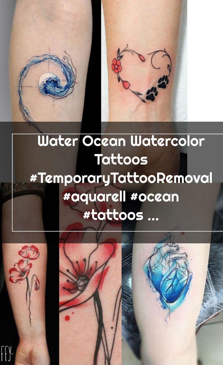 Water Ocean Watercolor Tattoos TemporaryTattooRemoval