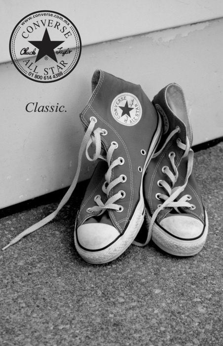 'Classic.' Chuck Taylor Converse...after all my years on the planet, just bought my first pair, and now a pair of high-tops yesterday....yahooooo!