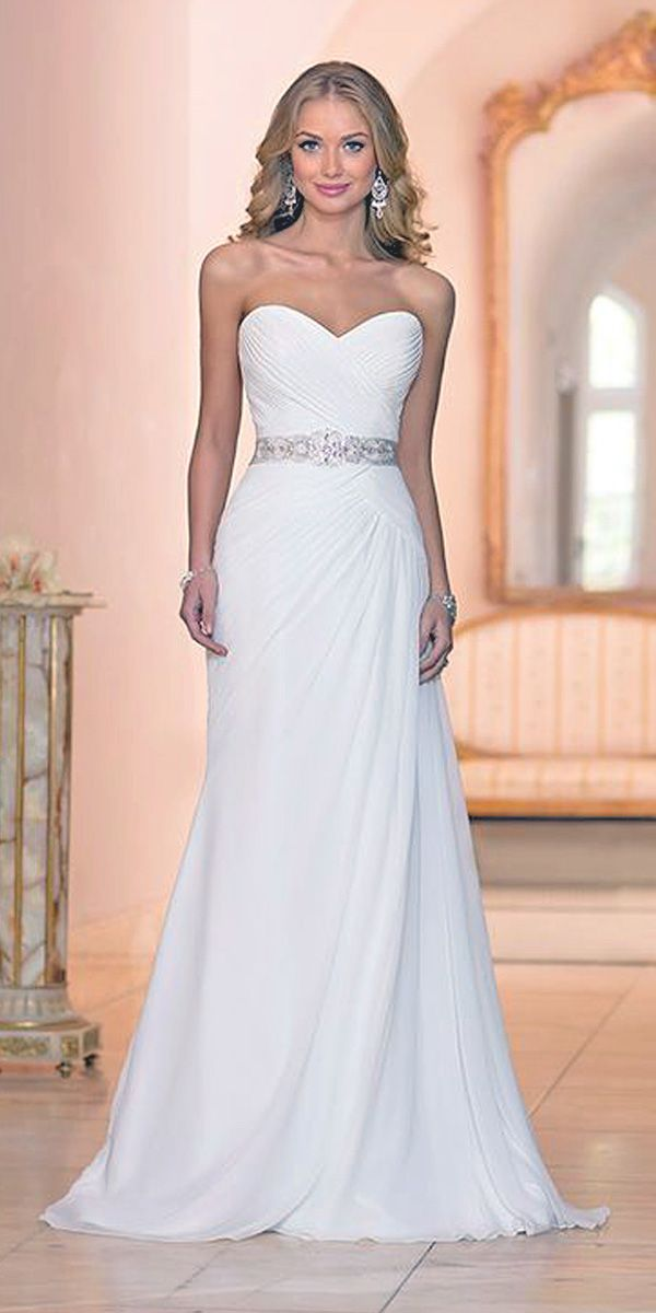 Wedding Dresses With Gorgeous Sweetheart Neckline ❤ See more: http://www.weddingforward.com/sweetheart-wedding-dresses/ #weddings