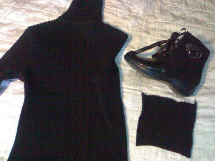 Остальное: переделка старых сапог в новые ботиночки (переделка обуви,шитье,новые жизнь старых вещей) ФОТО #3