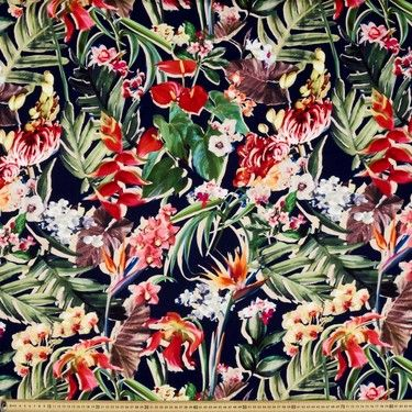 Vintage Botanical No. 9 Satin Multicoloured 146 cm