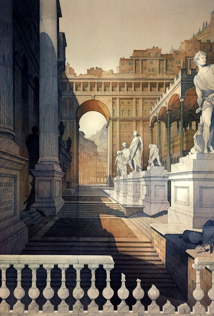 QUEST FOR BEAUTY - A Roman Stage Set. by Thomas W Schaller....