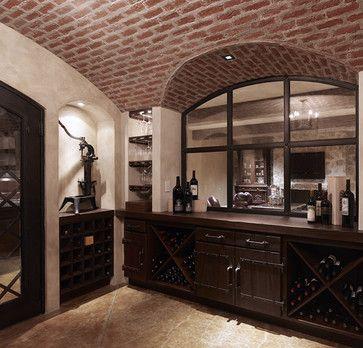 Mediterranean Home Wine Glass Storage Design, Pictures, Remodel, Decor and Ideas