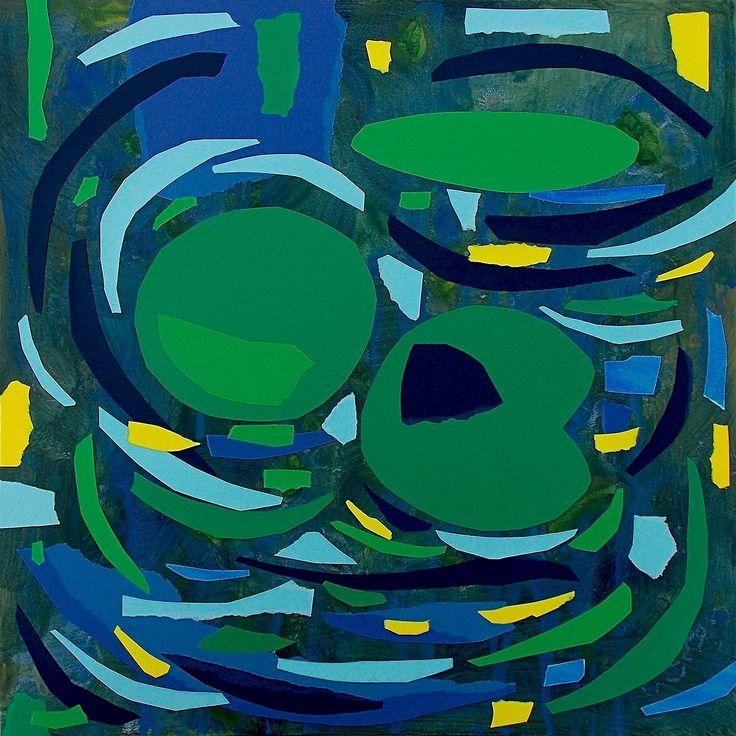 """andrea mattiello """"Ritorno"""", acrilico e collage su tela cm 50x50; 2016 #andreamattiello #mattielloandrea #artist #emergingartist #artistaemergente #contemporaryart #collage"""