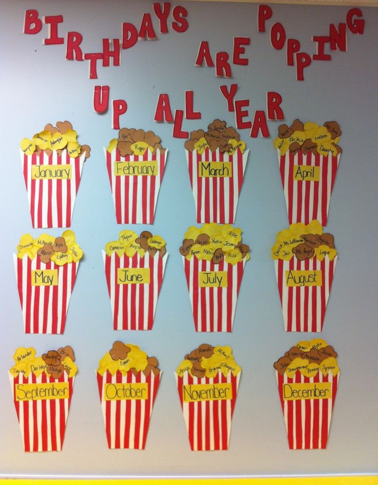 Birthdays Are Popping Up All Year!  Perfect Movie/Pre-K going to Hollywood Theme!!!