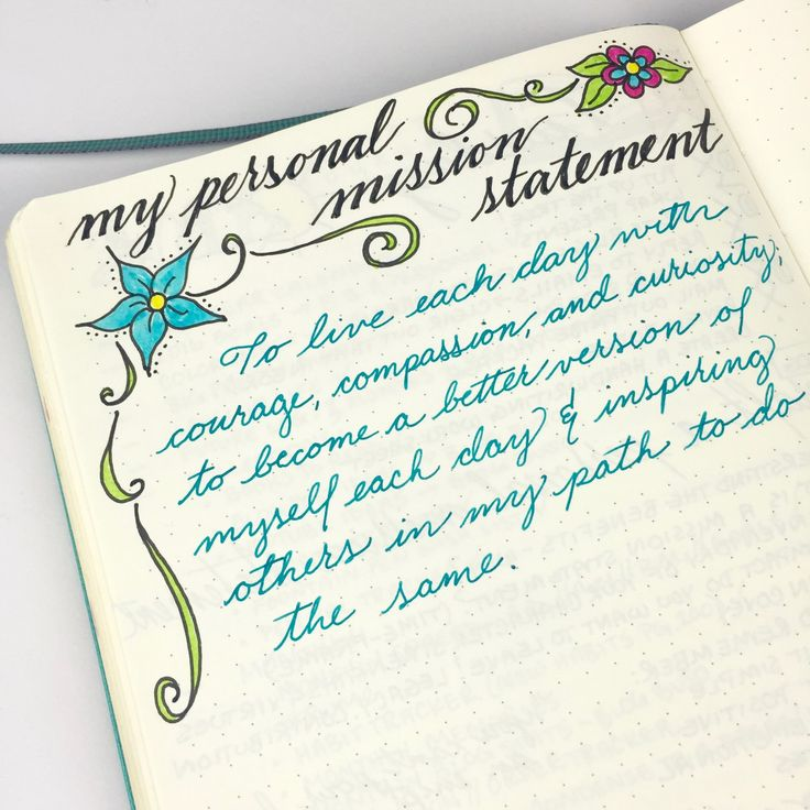 Personal mission statements