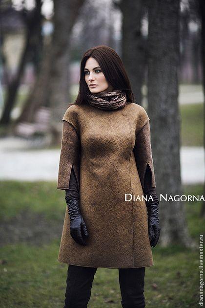 Верхняя одежда ручной работы. Ярмарка Мастеров - ручная работа Пальто войлочное. Handmade.