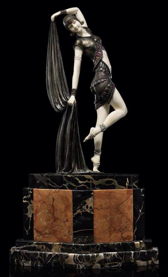 """Статуэтка """"Ямбо"""" от Деметра H. Чипарус 1925 год / Art Deco Sculpture """"Yambo"""" by Demetre H. Chiparus 1925:"""
