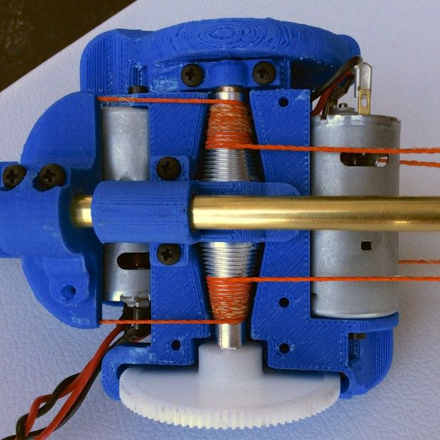 The conical differential drive at the heart of Rise Robotics' linear actuator.