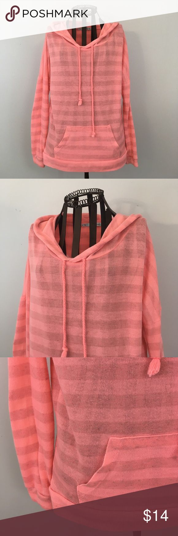 - Maurices - Thin hoodie by Maurices bright pink and perfect for summer Maurices Sweaters