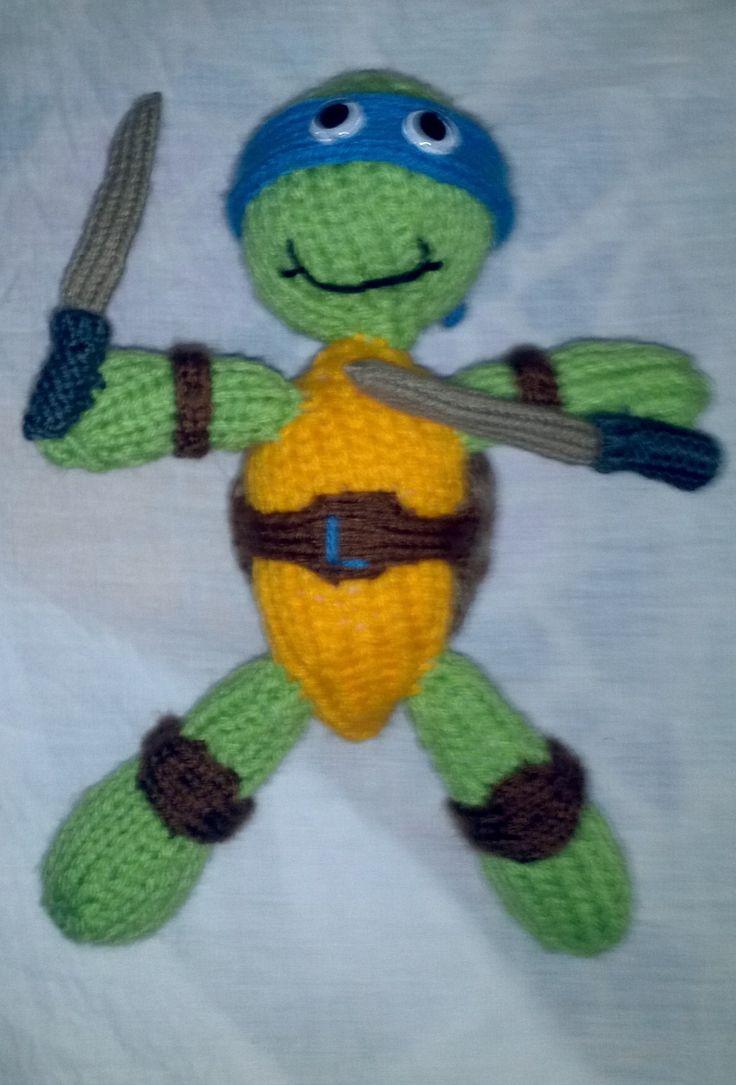 Knitted Teenage Mutant Ninja Turtle Knitted Childrens ...