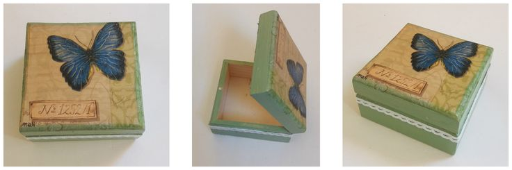 Small wooden box for earings