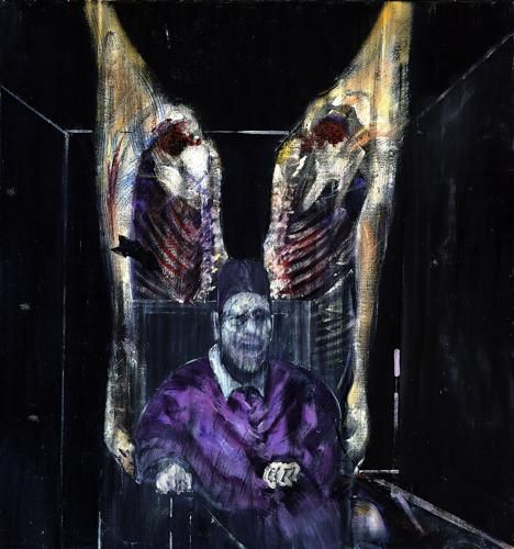 Francis Bacon, Figure with Meat, 1954, huile sur toile, Art Institute of Chicago