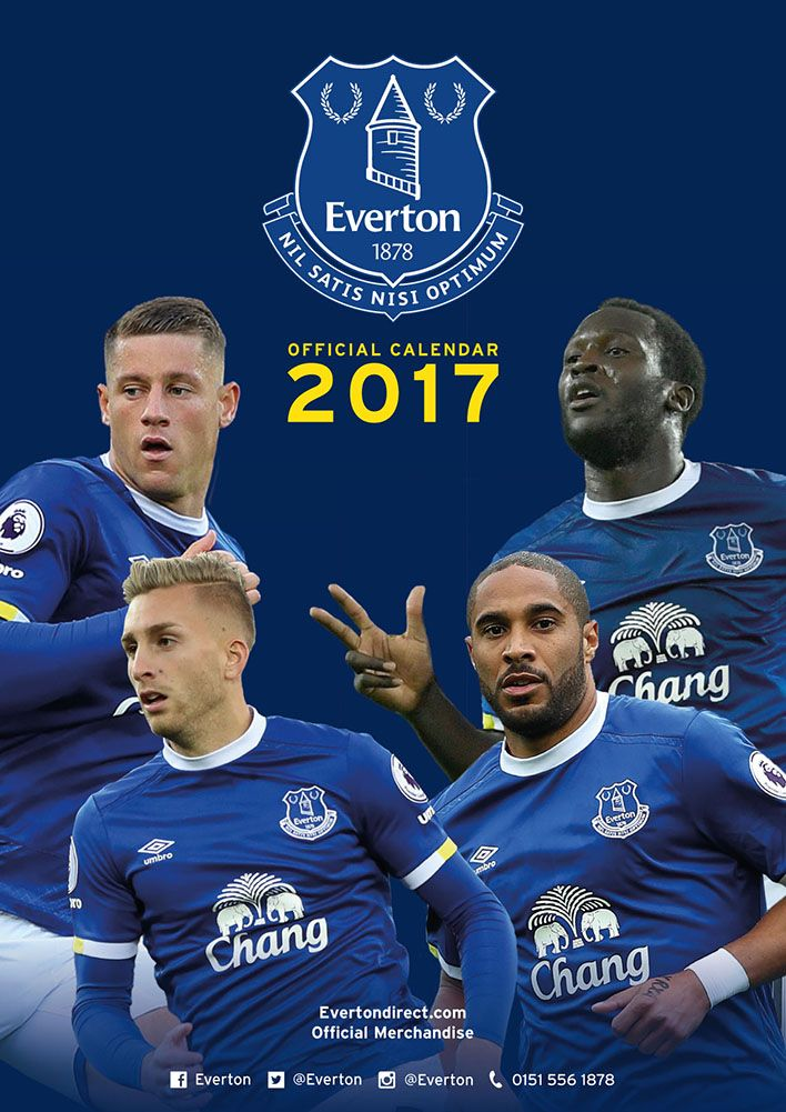 Official Everton FC 2017 Calendar now available for only £8.99 and Free UK Delivery (Worldwide Delivery also available) at http://bit.ly/FootballCals2017