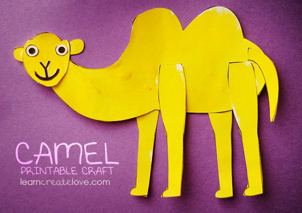 Camel Craft -- We're going to use clothes pins for legs instead of just paper.