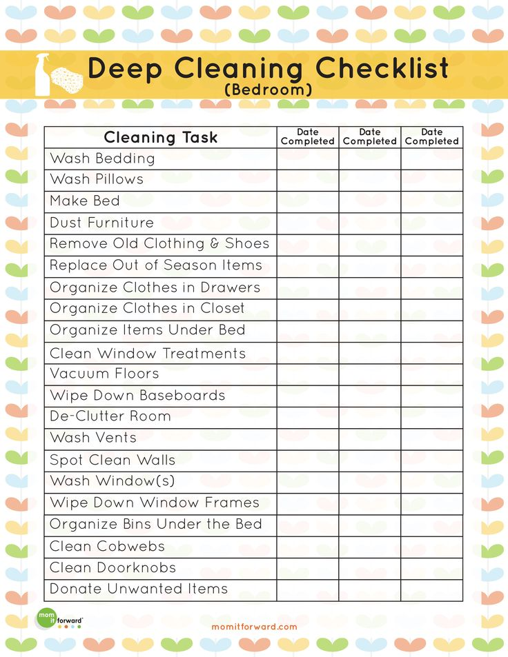 It's easy to neglect cleaning the bedroom when you're focused on the more seen parts of the house. Get started with this deep cleaning bedroom checklist.