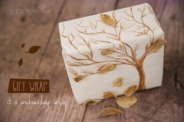 Beautiful hand painted fall wrap