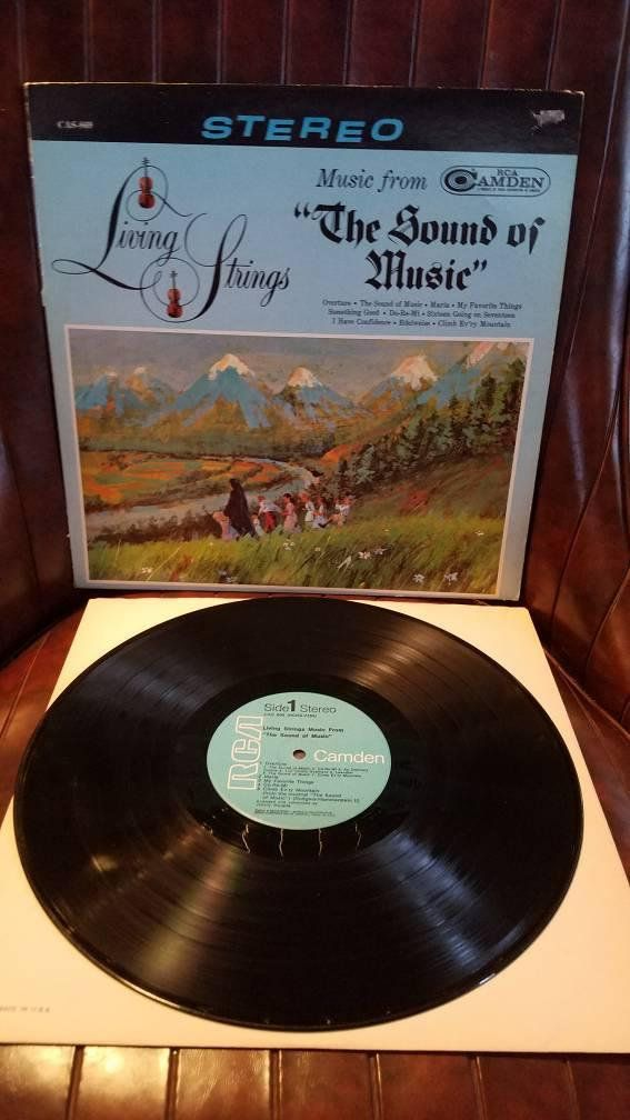 Check Out This Item In My Etsy Shop Https Www Etsy Com Listing 593821692 Living Strings Sound Of Music 1965 Sound Of Music Vintage Vinyl Records Music