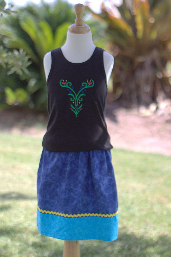 Frozen Anna inspired 2 piece tank set - Includes Tank and Skirt - Custom Made Adult/Teen on Etsy, $34.99