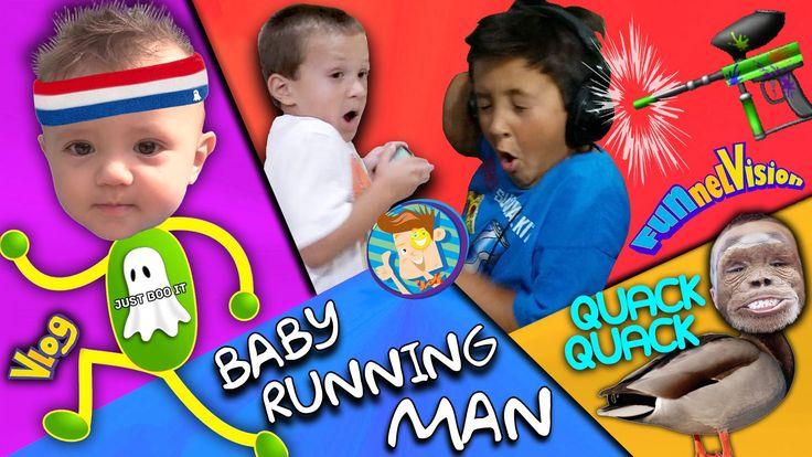 BABY RUNNING MAN CHALLENGE! Paintball Gun Scare Cam Prank #فيديو #فيديوهات #مضحك