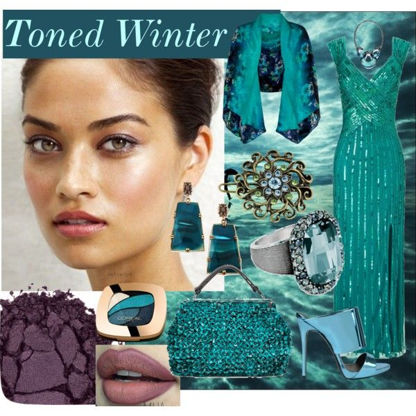 Toned Winter by prettyyourworld on Polyvore featuring beauty, L'Oréal Paris, Monsoon, 1928, Stephen Dweck, Alexis Bittar, Ariella, Giuseppe Zanotti, Urban Decay and Marni