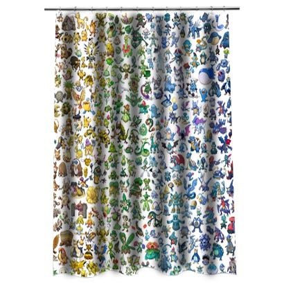 Pokemon All Shower Curtain In 2019
