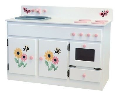 KITCHEN SINK STOVE & OVEN Amish Handmade Wood Kitchen Play Furniture Made in USA