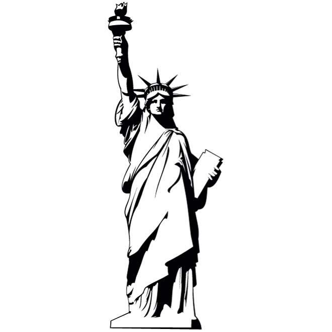 1000 Ideas About Statue Of Liberty Drawing On Pinterest