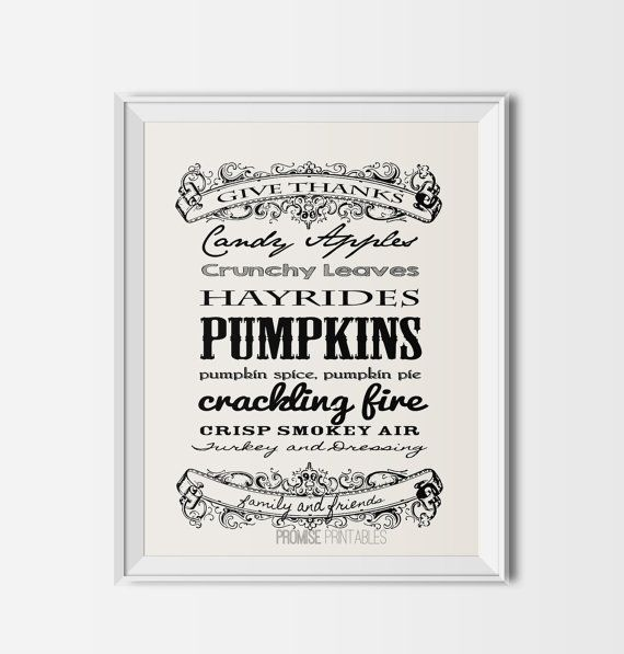 fall typography16x20  Printable harvest by PROMISEPRINTABLES