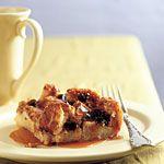 Irish Bread Pudding with Caramel-Whiskey Sauce Recipe | MyRecipes.com