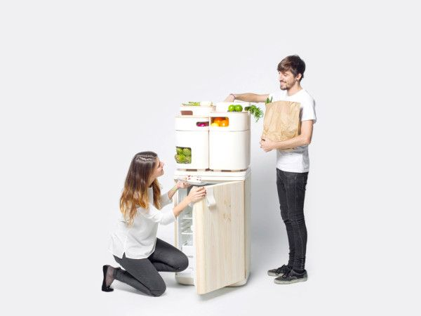 OLTU refrigerator concept to keep fruits and veggies fresher by Fabio Molinas