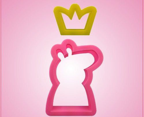 Peppa Pig Cartoon and Crown Cookie Cutter Set by SiliconeGamer