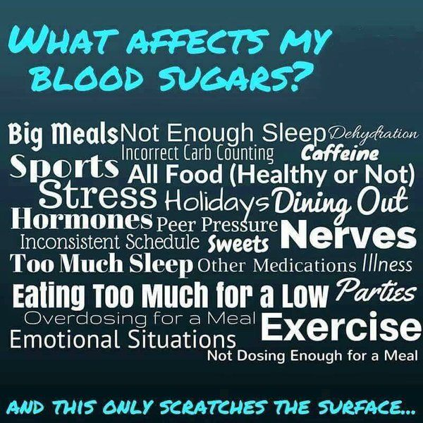 what affects blood sugars