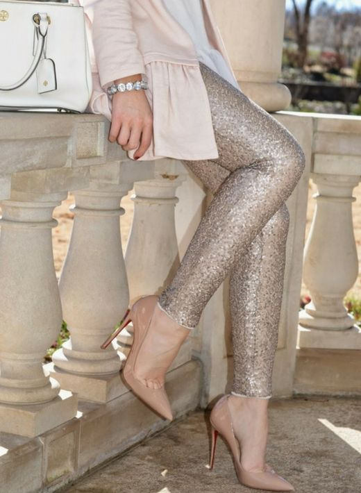Leggings Gold Sequin Lined Lined with soft inside fabric, gorgeous sparkles and the amazing compliments are soon to follow you! Size up. I have 2 large left, perfect for size 6 and 8. Ships the next b