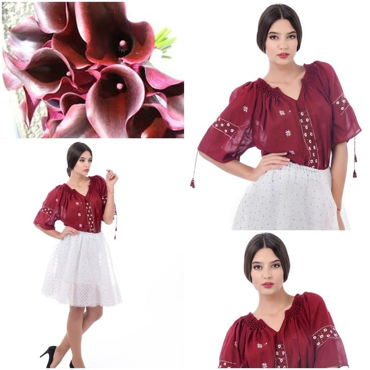 So in love with this romanian burgundy blouse<3 #romanianblouse #labouseroumaine