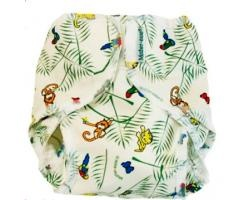 Mother Ease Rikki PUL Rainforest. very cute - I bought the smallest size and that was perfect for my newborn (3.5kg).  I used with the folded muslins, and it worked great.