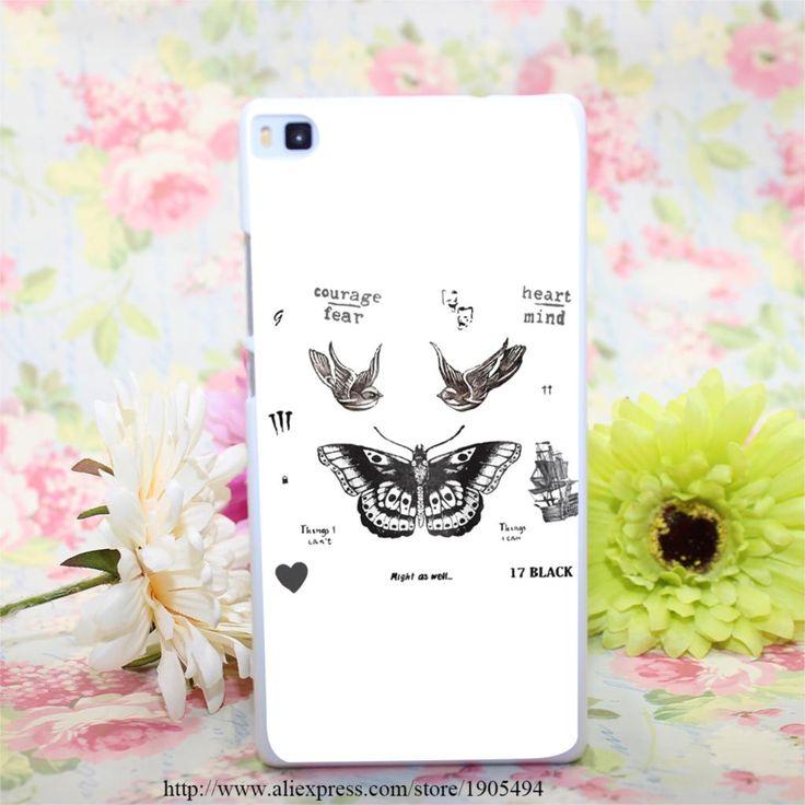 1425HQA татуировки а-ля гарри жесткий окрашены в белый цвет чехол для Huawei Ascend P6 P7 P8 P8 облегченная красочные защитный чехол