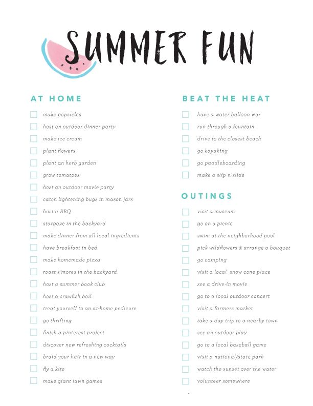 Summer Fun Bucket List Great Ideas To Squeeze All The You Can Out Of