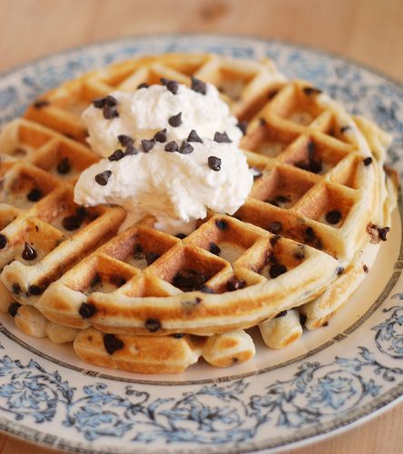 Chocolate Chip Waffles - a breakfast everyone will love!
