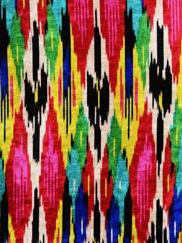 ikat, kilim, designer fabric