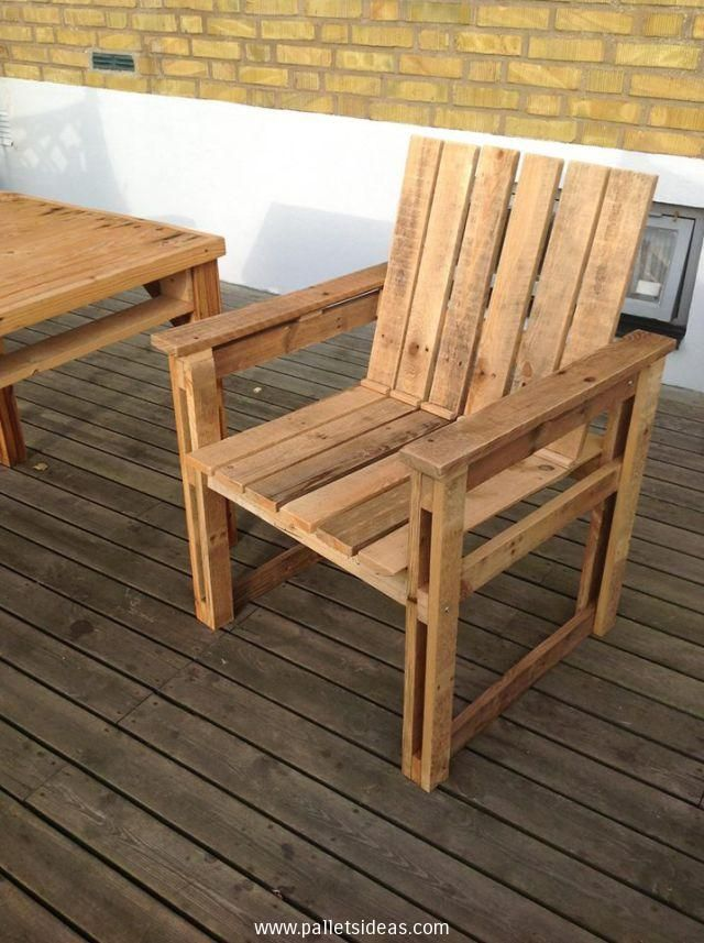 Recycled Pallets Wood Armchair Ideas Pallet Furniture