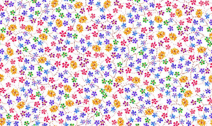 Flores Acqua - floralzinho gracinha para quem esta procurando o estilo Liberty. visite nossa pronta entrega em www.panolatras.com.br !