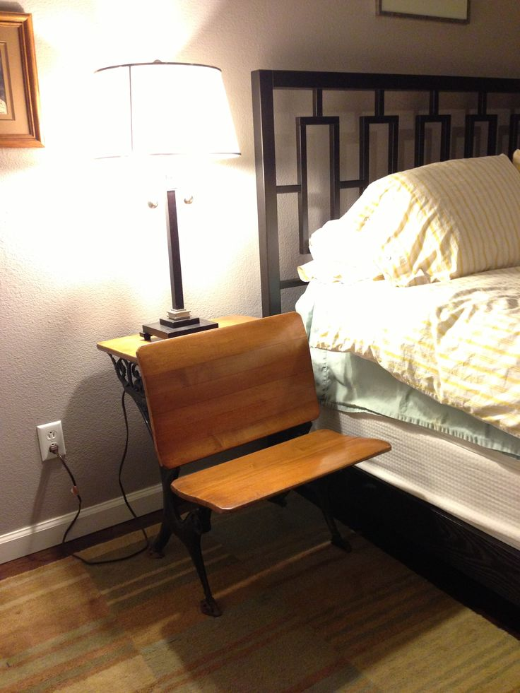 Used as a night stand here. Could be another accent table - blankets stacked on seat part? may be too rustic for you.