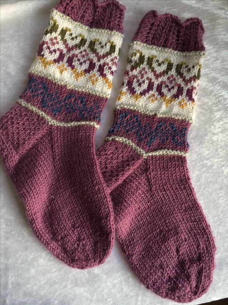 Hjärtevän-sockorna from Novita. Pattern in the knittingmagasin Våren 2017