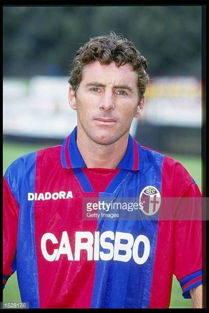 A portrait of Oscar Magoni of Bologna taken during the club photocall Mandatory Credit Allsport UK