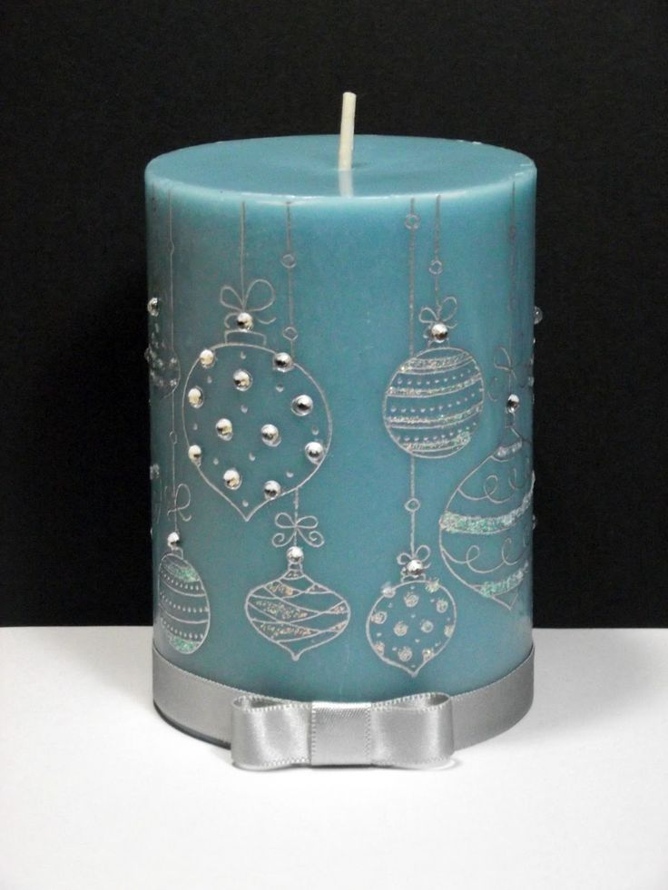 A Blog Named Hero: Christmas-travaganza: Decorated Candles