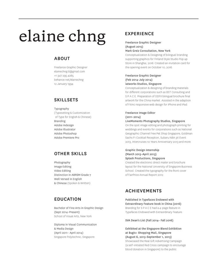 80 best Resume \/ CV images on Pinterest Curriculum, Resume and - photography objective resume