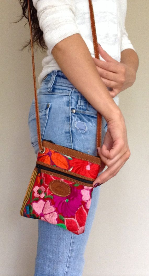 Bright Red, Crossbody, Hipster Bag on Etsy, $27.95