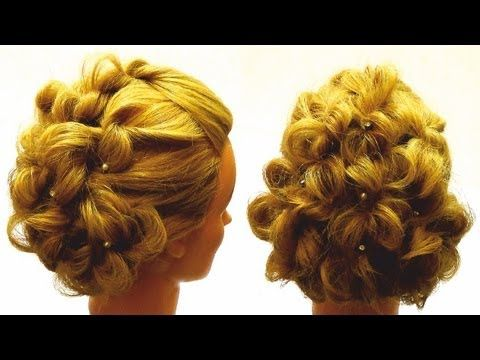 Вечерняя прическа на длинные волосы.Вечерняя прическа с плетением.Evening hairstyle for long hair - YouTube