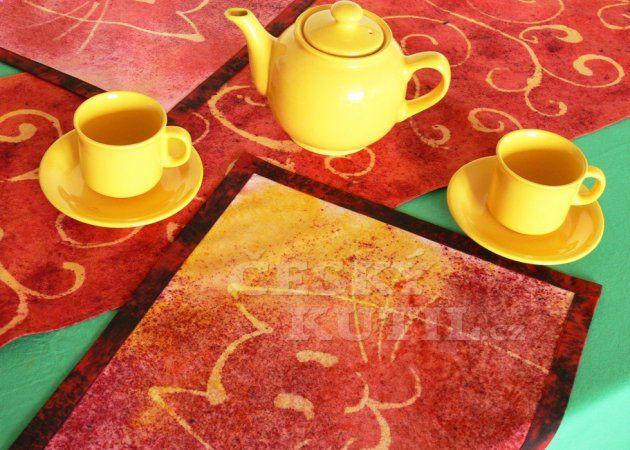 Sypaná a savená batika